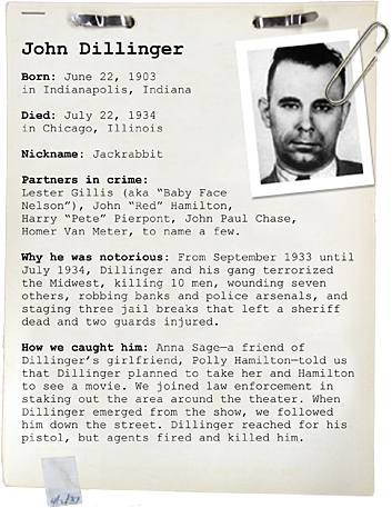 specific cases history of forensic psychology john dillinger